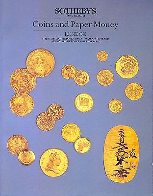 SOTHEBY'S Coins and Paper Money London 2nd & 3rd October 1986