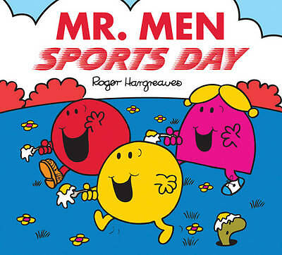 NEW sparkly MR MEN - SPORTS DAY   (BUY 5 GET 1 FREE book Little Miss Men