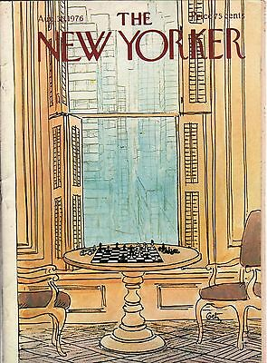 1976 New Yorker August 30 - Chess Game in the Manhattan Men's Club - by Getz