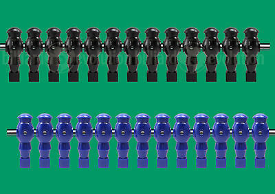 "13 Blue/13 Black Robotic Style Foosball Men for a 5/8"" Rod"