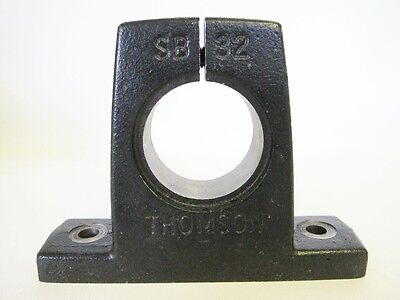 "Thomson Linear SB32 Steel Shaft Support Block Linear Bearing 2"" Bore"
