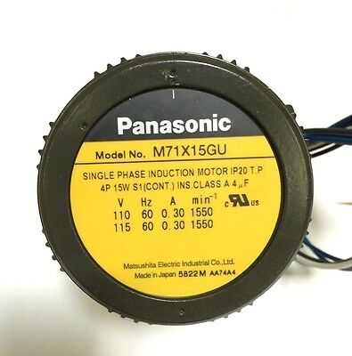 M91Z60GU NEW P//N: M91Z60G4DGA PANASONIC INDUCTION MOTOR,90MM SQ,60W,110//115V