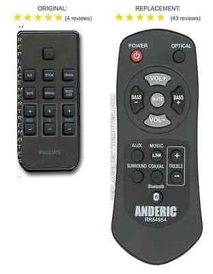 NEW Philips SOUND BAR Replacement remote control for 996510054954, 996510050576