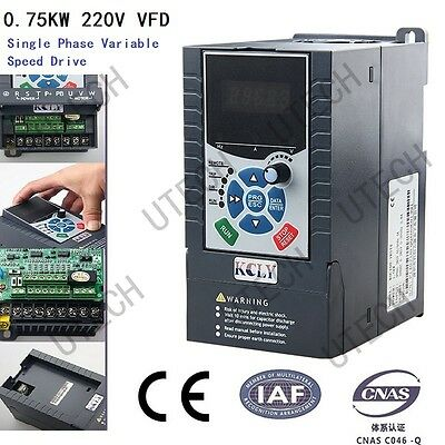 220V 0.75Kw 4.0A 1Phase Variable Frequency Drive Inverter Vfd High Performance