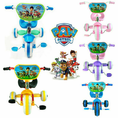 Paw Puppy Bike Bicycle Trike Tricycle Toddler Kid Child 3 Wheels Car Ride On Toy