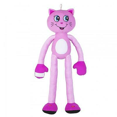 Stretchkins Light Up Cat Plush Toy Pink Multicoloured Light Show 3 Years +