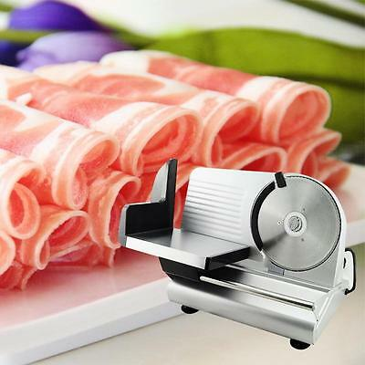 "Electric Food Slicer Meat Commercial Steel Cheese Cut Restaurant Home 7.5"" Blade"