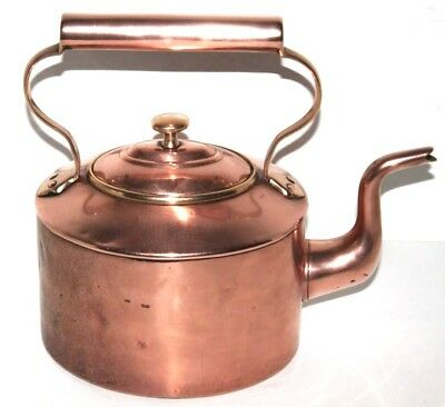 Antique Victorian Copper Kettle - FREE Shipping [PL1228]