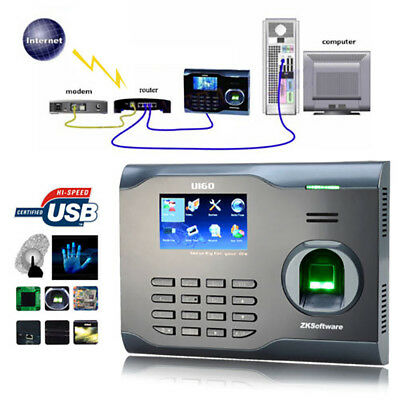Zksoftware U160 Biometric Fingerprint Time Attendance Recod Support 64bit system
