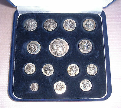 "Very Rare Collection ""14 Ancient Greek Coins""  Pure Silver 925  Only 1490 Copies"