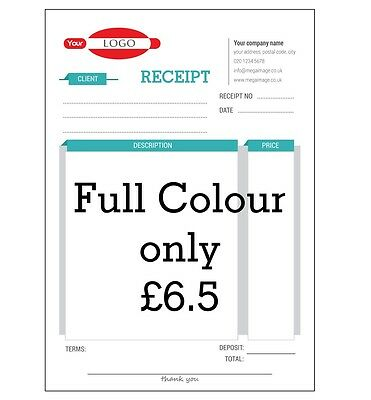 Personalised A5 Invoice Duplicate Books/ Ncr/ Receipt/ Delivery Note, Pad Print
