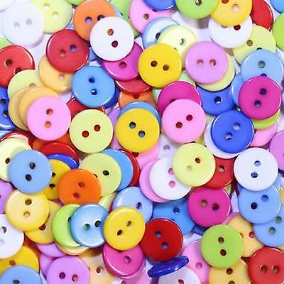 lot 50 boutons 11 mm multicolor melange 2 trous couture mercerie scrapbooking