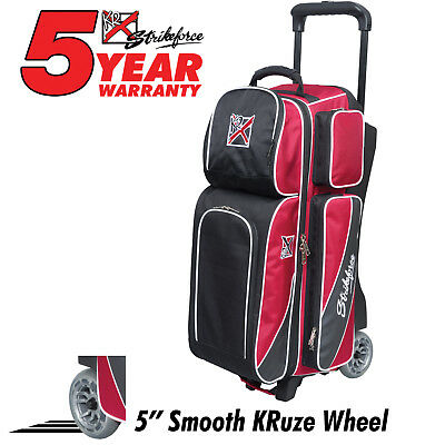 Ebonite Transport Black/Red 3 Ball Roller Bowling Bag