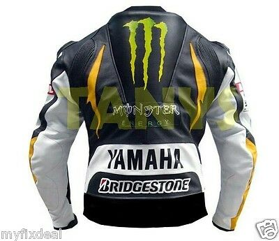 Yamaha Monster Motorcycle Motogp Motorbike Racing Leather Jacket