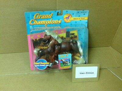Grand Champions 1995 American Saddlebred Mare & Foal 50019 Vintage New