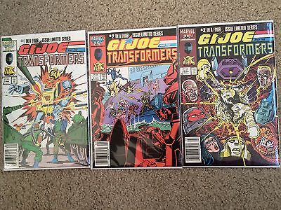 Marvel Comics: G.I. Joe And The Transformers - 1 2 3 - 1987 - First Prints