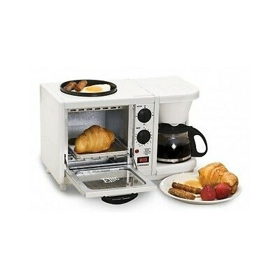 Breakfast Center Toaster Oven Griddle Coffee Maker 3 in1 Multifunction Compact
