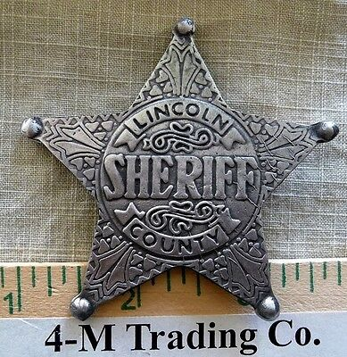 Lincoln County Sheriff Badge Badges Of The  Old West) Free Shipping