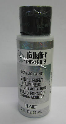New Plaid Folk Art Acrylic Chunky Silver Glitter Paint 2 fl.oz/59ml #2870