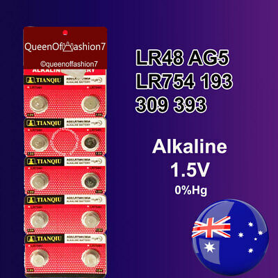 10X LR48 (393/AG5/LR754) Battery 1.5V Alkaline Button Cell Batteries Sydney