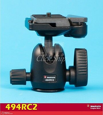 Manfrotto 494 Mini Ball Head with RC2 Quick Release Mfr # 494RC2