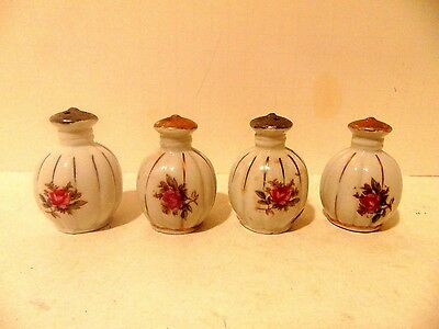 4 Vintage Post War 1950's Made in Japan Porcelain Salt & Pepper Shakers