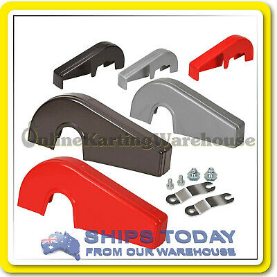 Go Kart Chain Guard Otk Style Silver Red Or Black With Mounting Kit