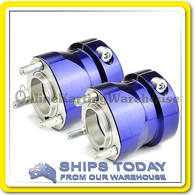 Go Kart Rear Hubs Suit 50Mm Axle 70Mm Long High Quality Blue Set Of 2 Brand New
