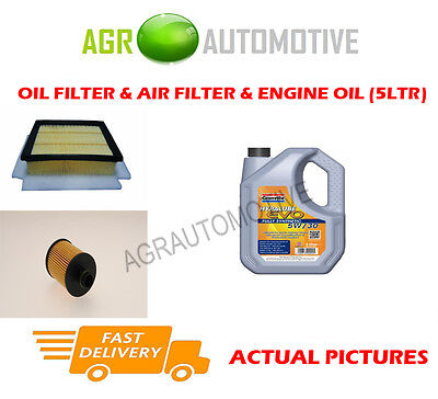 Diesel Oil Air Filter Kit + Ll 5W30 Oil For Vauxhall Corsa 1.3 95 Bhp 2010-