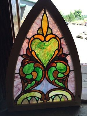 Sg 254 Antique Gothic Arch Stainglass Window