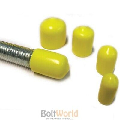 M6 Rod Bar Studding Stud Screws Cables Yellow Safety Vinyl Thread Cover Caps