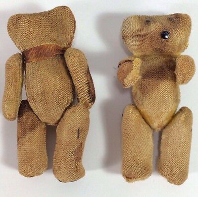 Antique Jointed Teddy Bears marked Made In Japan, 1940's