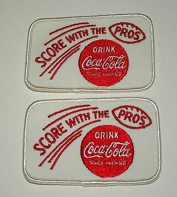 2 Score With the Pros Football Cap Coca-Cola Coke Soda Cloth Patch 1966 NOS New