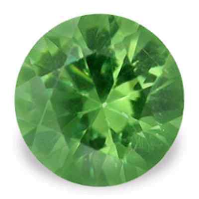 Blinding Lime Green Demantoid GARNET 3.5 mm Round Diamond Cut Russia