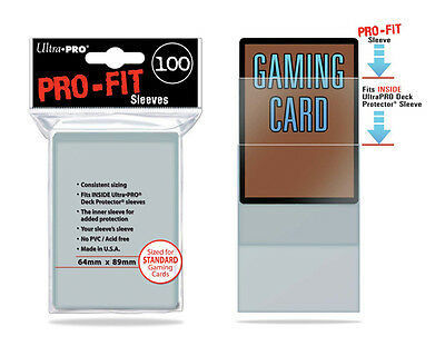 Ultra Pro - Pro-Fit Card Sleeves - Standard-Sized x100