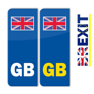 100 X Pair GB Euro Number Plate Stickers EU Road Legal Car Decal (STKPN00004)