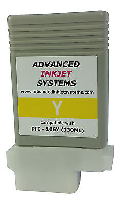 Compatible 130ml Yellow Cartridge PFI-106Y For Canon IPF6400 IPF6450