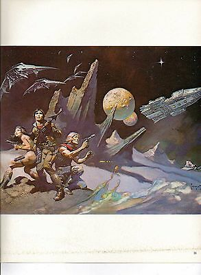 """1985 Full Color Plate /""""Attack On the Spaceship/"""" by Frank Frazetta Fantastic GGA"""