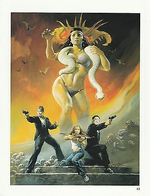 "1996 Full Color Plate "" From Dusk Til Dawn ""by Frank Frazetta Fantastic GGA"
