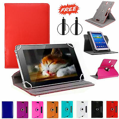 "Universal 360 Rotating Leather Stand Case Cover For Android Tab 7"" 8"" 10"" inch"