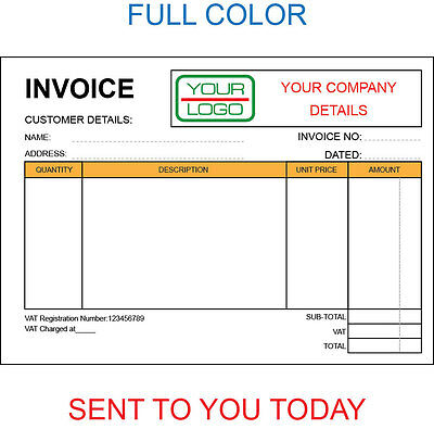 Personalised Duplicate A5 Invoice Book / Pad Print / Ncr / Receipt/ Order