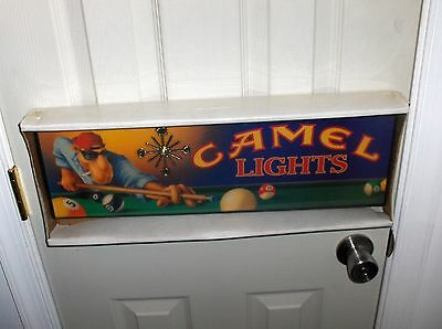 Joe Camel.Pool Hall Clock`Nice`New Old Stock,Sealed Stored 28? Years`Free To US