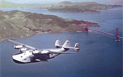 Pan American Airways B-314 airplane postcard Boeing flying boat