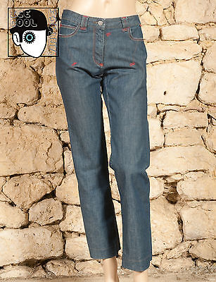 'christian Lacroix  Jeans' Embroidered Low Rise Jeans - Uk 12 - (Z)