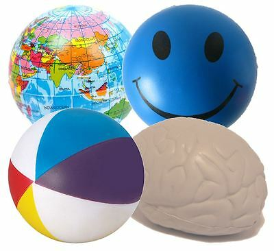 4 x Stress Ball Mixed Squeezers - Great For ADHD and Autism