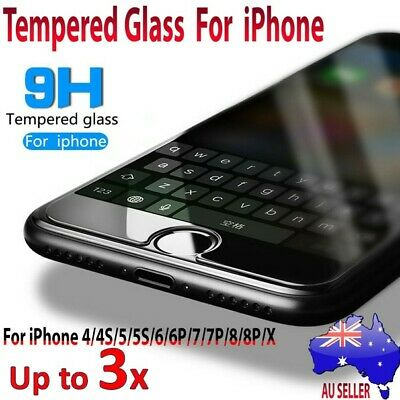 Anti Scratch Tempered Glass Screen Protector Film Guard For iPhone 4 5 6 7 Plus