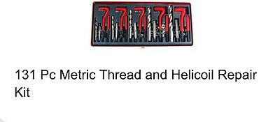 New Metric Thread And Helicoil Repair Kit 131 Pc