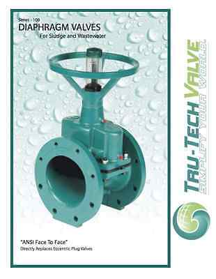 "TruTech Hand Operated Diaphragm Valve Series 100, 6"", Flanged, ANSI Face to Face"