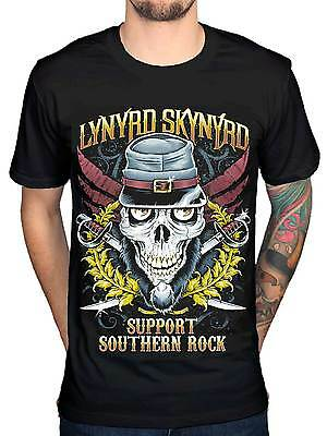 Official Lynyrd Skynyrd Support Southern Rock T-Shirt Van Zant