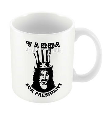 Official Frank Zappa For President Mug Jazz Rock Hot Rats Fan Merch Coffee Boxed